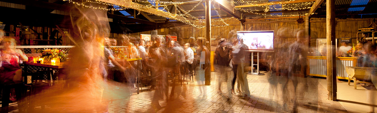 People dancing in The Panning Shed